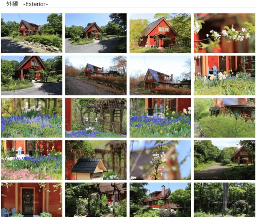 ファインエステート様のドリームXの物件写真のページのイメージ図